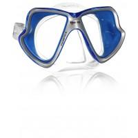 MARES MASCHERA X-VISION LIQUIDSKIN SILICONE CLEAR BLU GREY