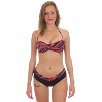 ARENA STRIPES TWIST BANDEAU TWO PIECES SWIMSUIT